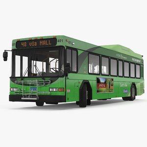 3d model gillig floor hybrid bus