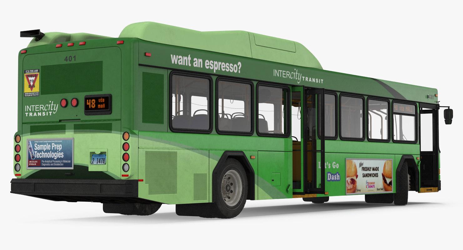 3d model gillig floor hybrid bus