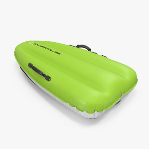 3d model inflatable sled green