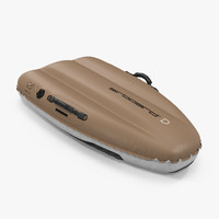 inflatable sledge airboard classic 3d model