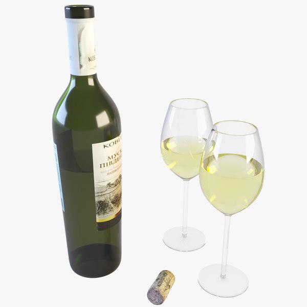 realistic wine bottle max