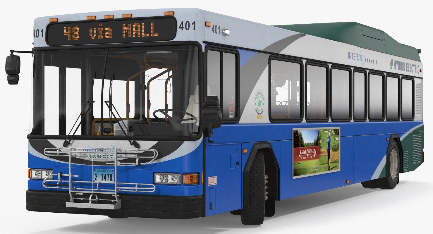 gillig advantage hybrid bus 3ds