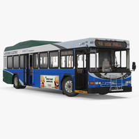Gillig Advantage Hybrid Bus Intercity Transit Rigged 3D Model