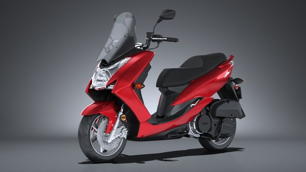 yamaha smax scooter 3d max