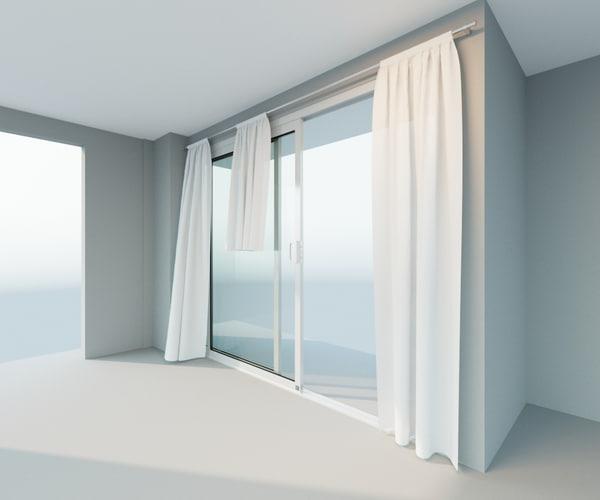 3d 3 curtain animation sliding