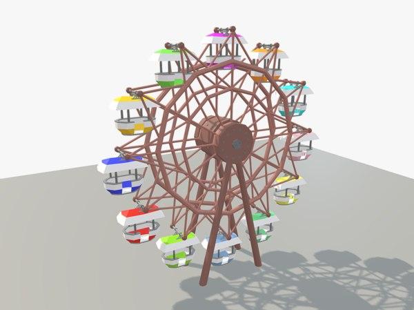 3d model of ferris wheel