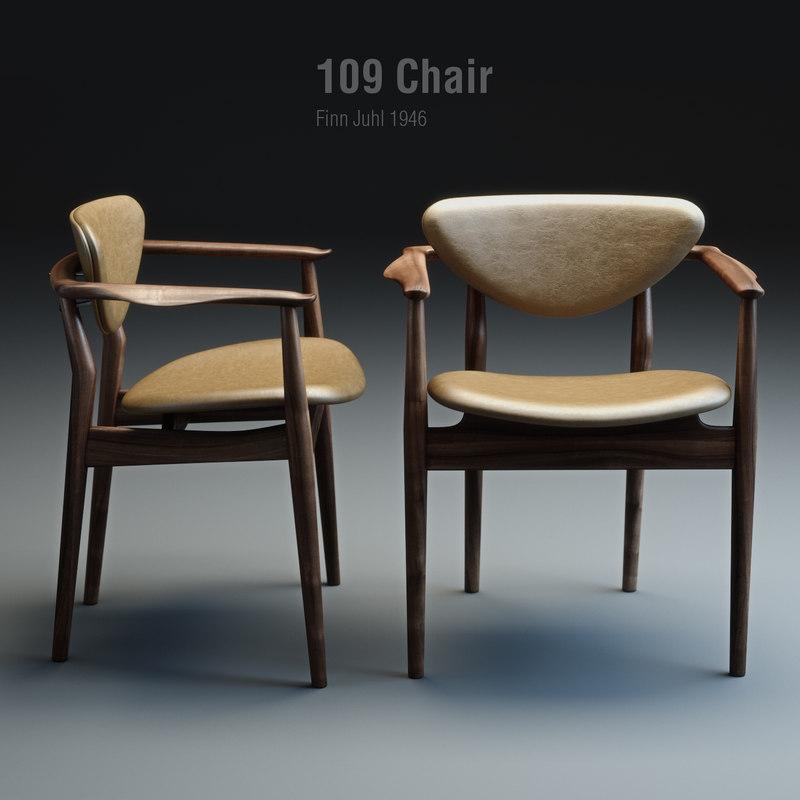 3d finn juhl chair 109