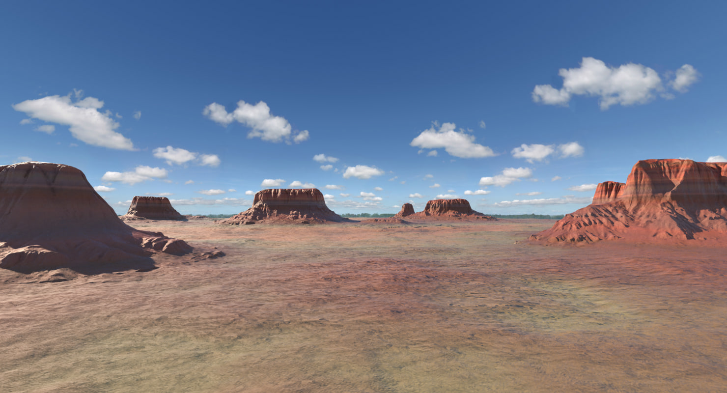 landscapes arizona mountain 3d max