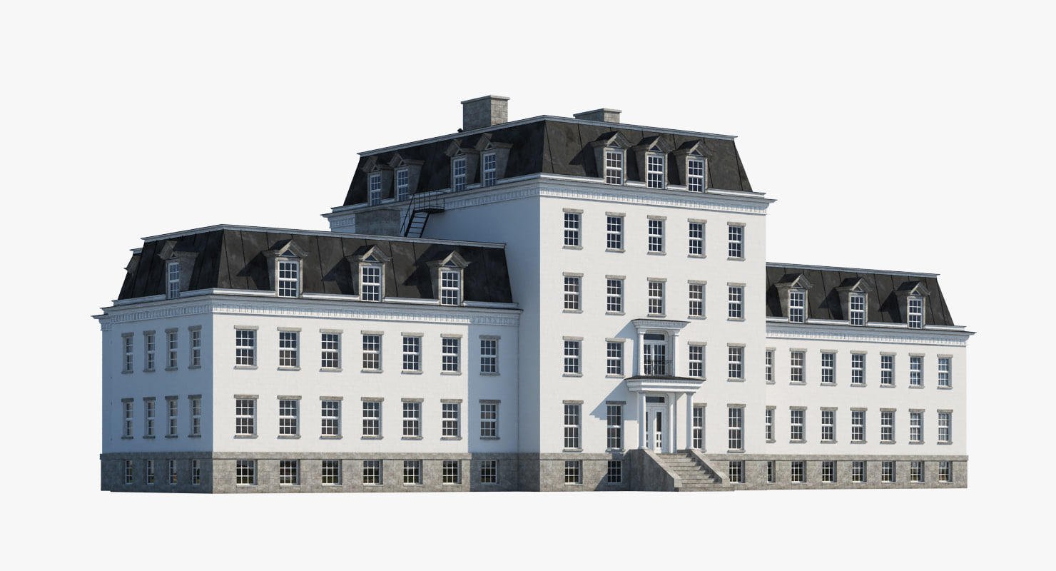 mansion realistic 3d max