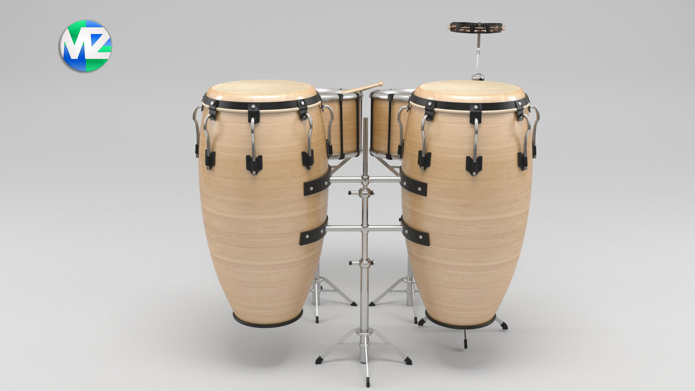3d model musical instrument drum