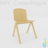 3ds copenhague chair wood