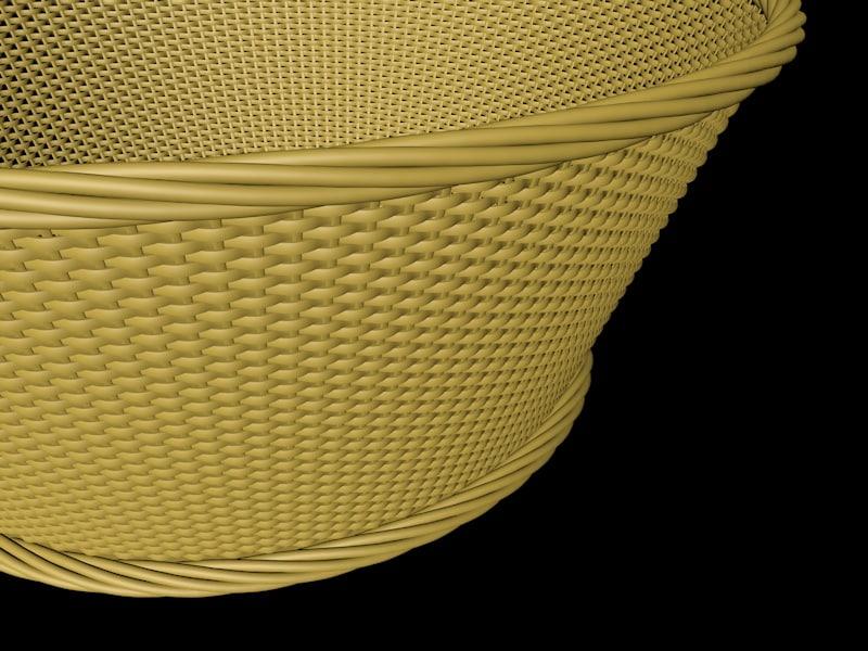 bamboo basket c4d