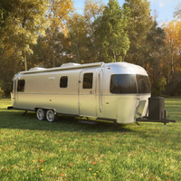 Airstream Classic trailer 2017, vray.