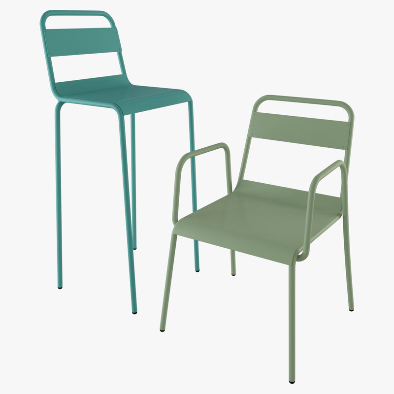 3d model anglet chair stool