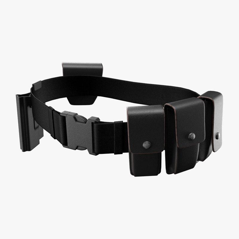 3d belt modeled