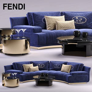 3d fendi artu sectional sofa
