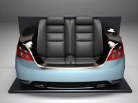 Sofa on the basis of the sedan