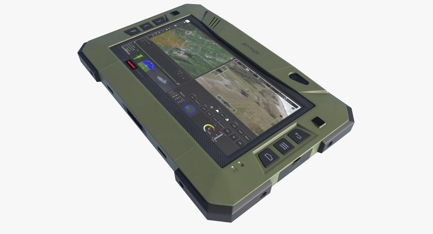 3d model military tablet