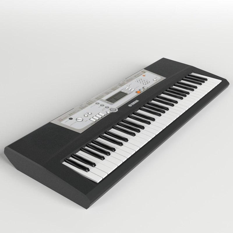 electronic piano keyboard 3d model