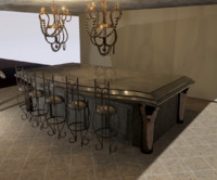 free obj model chandelier kitchen island