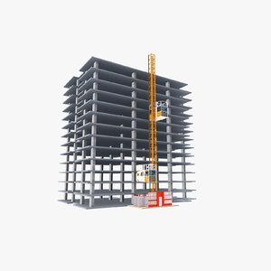 construction hoisting elevator 3d model