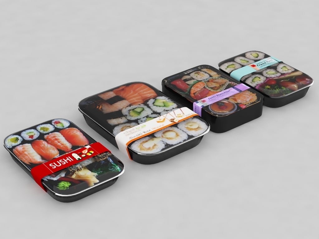 sushi takeaway 3d max
