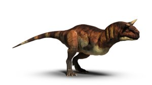 3d obj carnotaurus blender materials