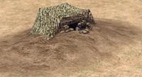 bunker foxhole 3d model
