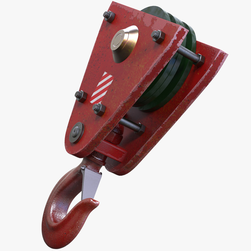 3d industrial hook model