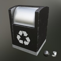 garbage container modern 3d max