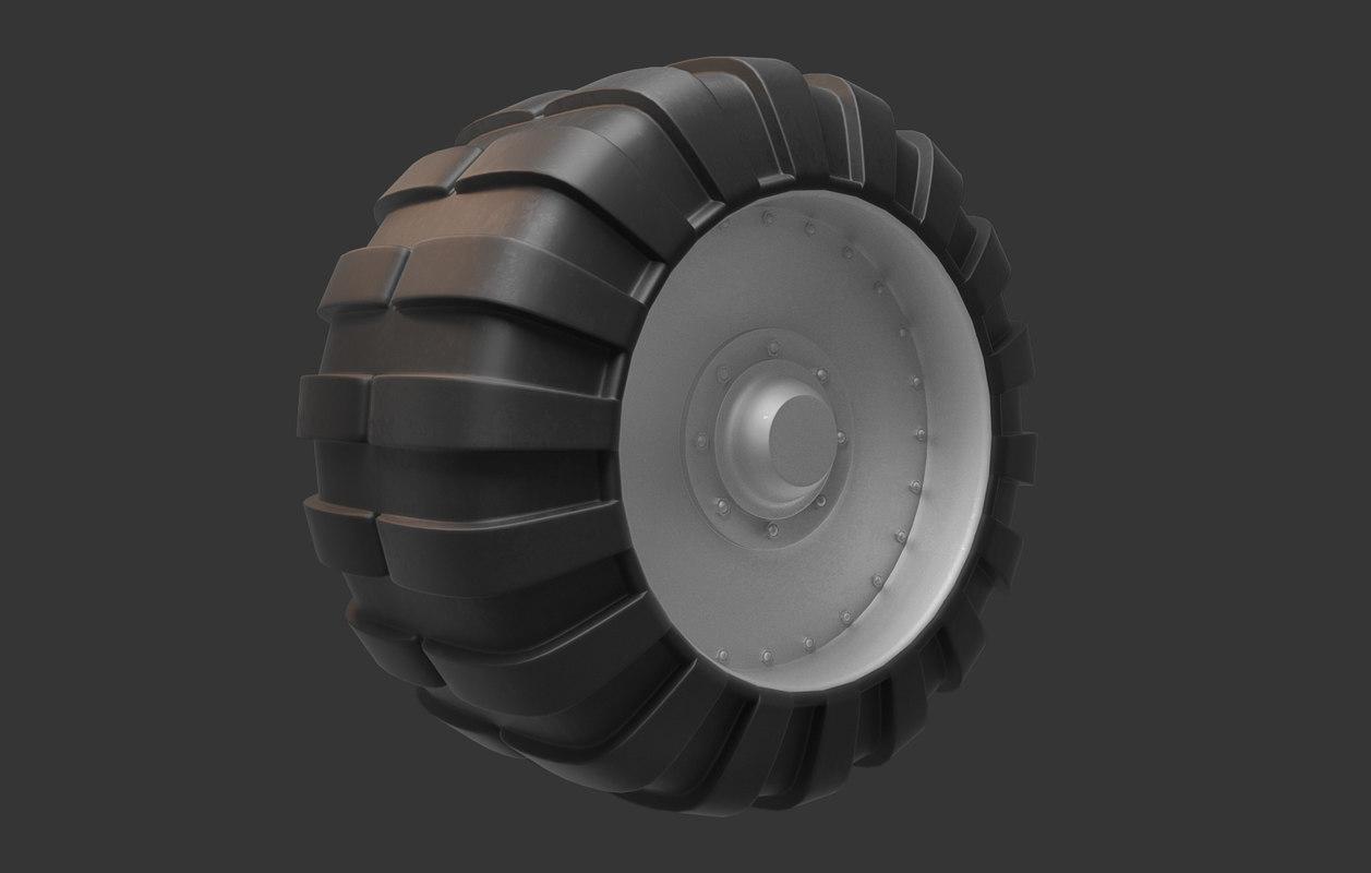 3d model of tank wheel