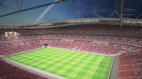 3d wembley stadium night day