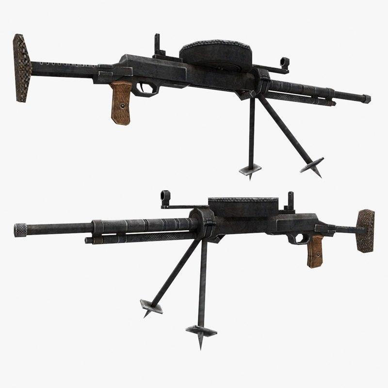3d model dt-29 gun