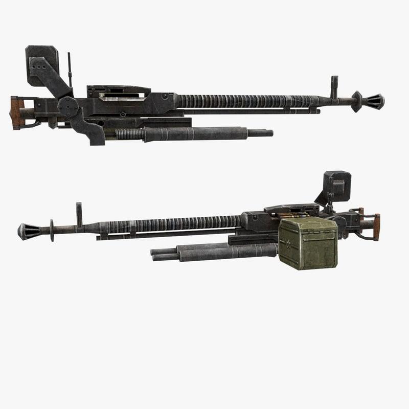 dshk gun 3d model