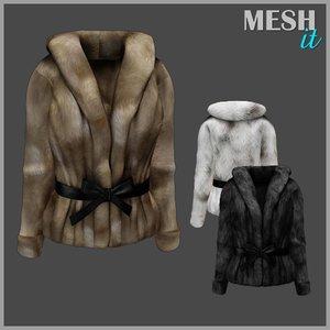 3d jacket fur model