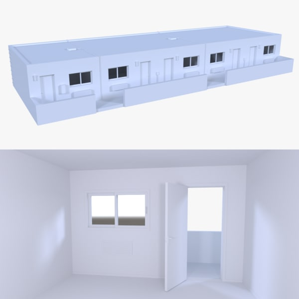3d model motel interior