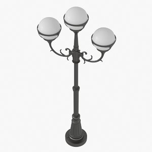 3d model classic street light