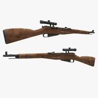 mosin s gun 3d model
