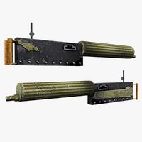 3d maxim gun model