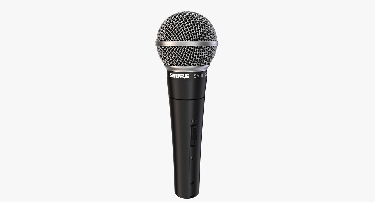 rigged microphone shure sm 3d model