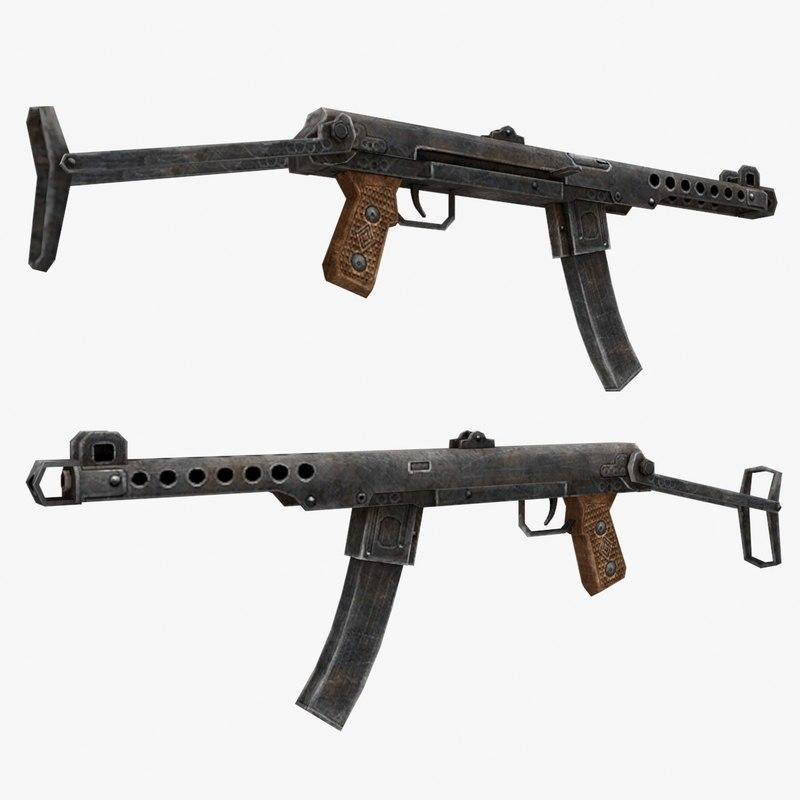 3d model pps-43 gun