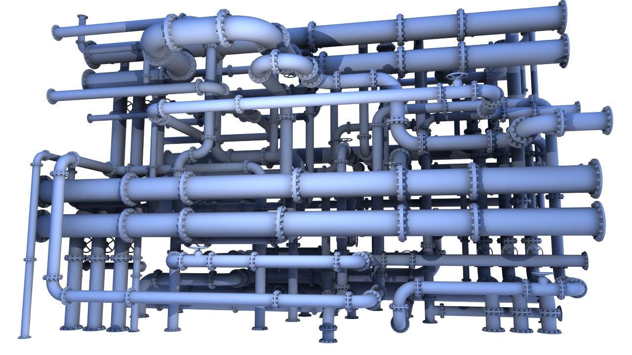 3d pipes model