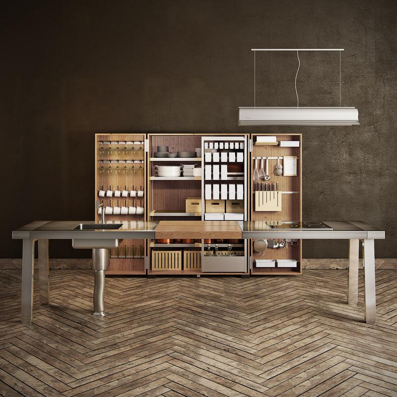 kitchen bulthaup b2 3d obj. Black Bedroom Furniture Sets. Home Design Ideas