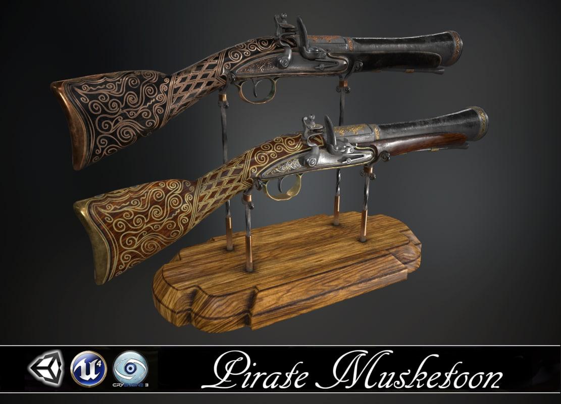 3d model pirate