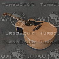 acoustic guitar takamine g 3d model