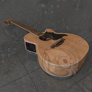acoustic guitar takamine g 3d model