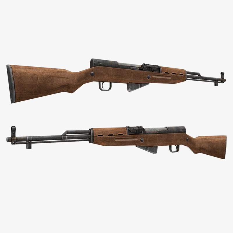 sks-45 gun 3d model