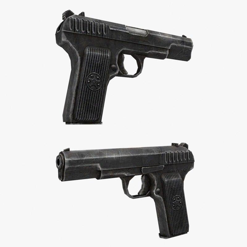 tt gun 3d model