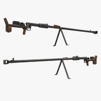 ptrd gun 3d max