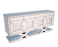 montreal accent cabinet 3d model